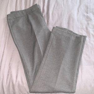 Kasper grey straight leg dress pant